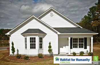 Guild Members Donate Time and Materials to Build Habitat for Humanity of Wake County Home.